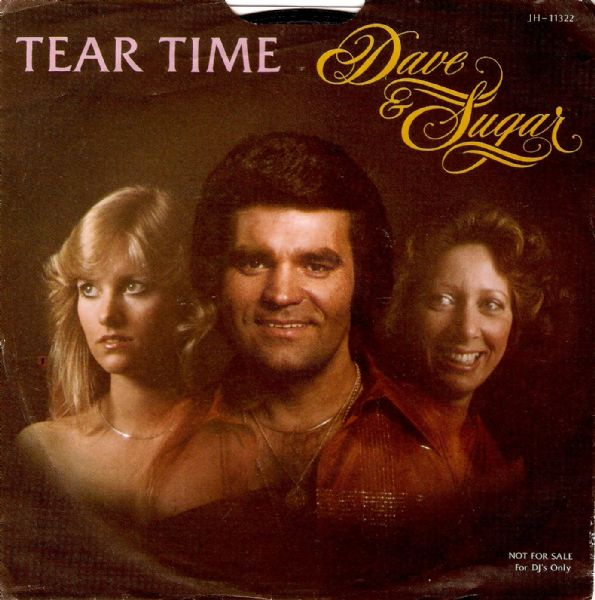 DAVE AND SUGAR Tear Time Vinyl Record 7 Inch US RCA 1978 Promo